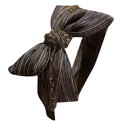 Spritzt Kostüm - HAUXIN❤ Damen 1920s Stirnband Pfau Feder Haarreife Haarband Stirnband Satin Vintage Kopf Warp Damen Kostüm Accessoires Damen Stirnband Haarband Headband Geschenk Blume gedruckt Sportliche