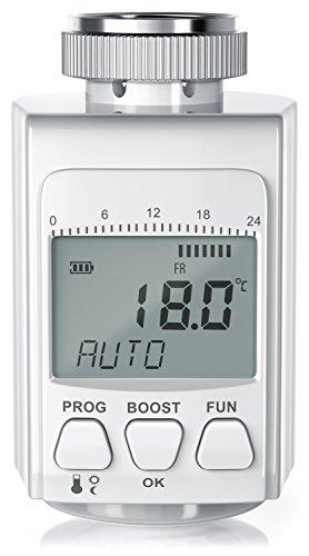 CSL - digitales Heizkörperthermostat | bis zu 30% Heizkosten Ersparnis | Radiator Thermostat Regler | intelligenter Eco/Boost-Modus -