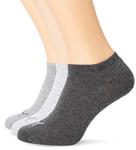 Puma Unisex Sportsocken Invisible 3er Pack, anthraci/l mel grey/m mel grey, 43/46, 251025 -
