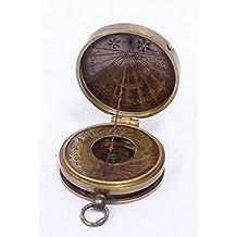 Bolsillo Reloj De Sol Brújula, Sonnenuhr- Brújula Stanley London, Latón Antiguo