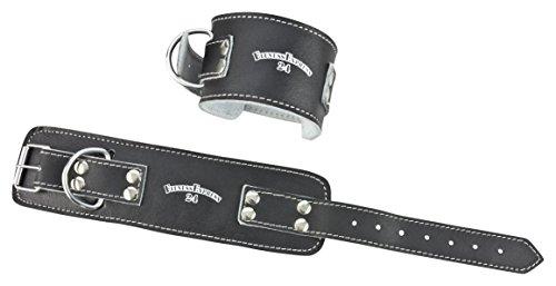 1 Stück Profi Leder Fußschlaufen mit Verschluss f. Kabelzug, Fußschlaufe