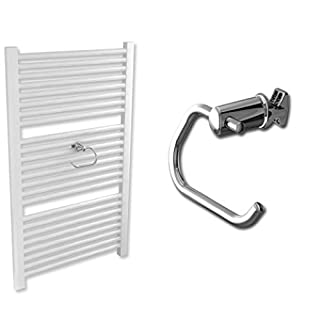 Chrome Toilet Paper Holder for Clip on Heated Towel Rail Extra Towel Holder