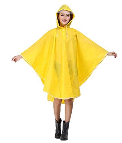 Dr.Sosmonki Damen EVA Transparent Wasserdichtes Regenmantel Regenponcho Regenumhang mit Kapuze Motorad Regenjacke Trenchcoat Parka Regenkleidung Raincoat Regencape