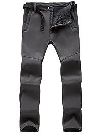 M.Baxter Pantalones de Lana Delgados Montañismo Otoño e Invierno Femenina de Esquí Impermeable a Prueba de Viento de Concha Blanda Pantalones Espesantes