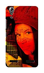 CimaCase Woman With Guitar Designer 3D Printed Case Cover For Lenovo A6000
