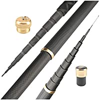 añas De Pescar BLTLYX Caña De Pescar Super Light Hard Carbons Fibras Mano Telescópica Stream Rod 7.2m Negro