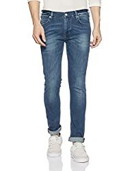 French Connection Mens Skinny Fit Jeans (54HIQ_Greenish Blue_34W x 33L)