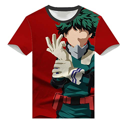 10565777a267 Cosstars My Hero Academia Anime Impression 3D à Manches Courtes T-Shirt  Adulte Cosplay Japonais