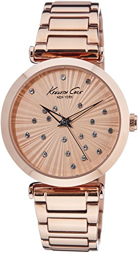 Kenneth Cole Watch KC0019 – for Women, Stainless Steel Bracelet Color Rose Gold