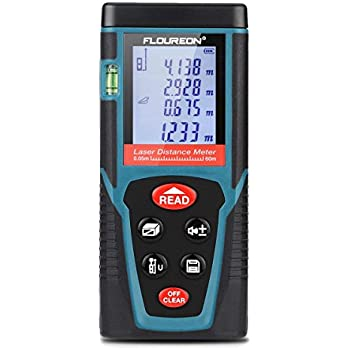Laser Measure Floureon Laser Distance Meter 60m 196ft