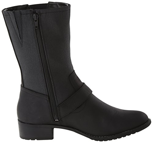Hush Puppies  Lola Chamber, Bottes femme Noir - Black WP Leather/Canvas