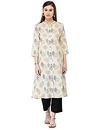 Varanga White Cotton Printed Kurta KFF-VAR21128