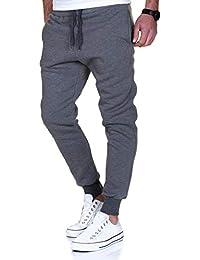 Herren Streifen Jogginghose Sporthose Sweatpants Jogger Trainingshose 2011 Kleidung & Accessoires