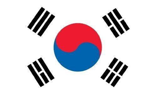 Drapeau de la Corée du Sud en extérieur Grand format 90 x 150 cm - 2-face En Polyester résistant aux intempéries