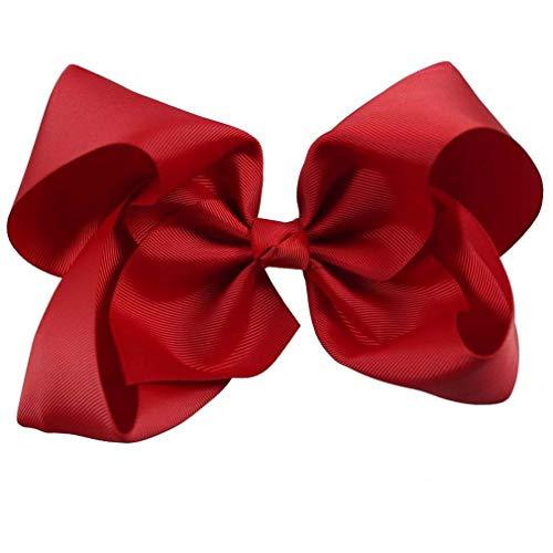 Großer Haar Bogen für Mädchen scherzt Grosgrain Band Jumbo Bogen mit Klipp Butiken Haar Zusatz Geschenken 60 Farben 2 -