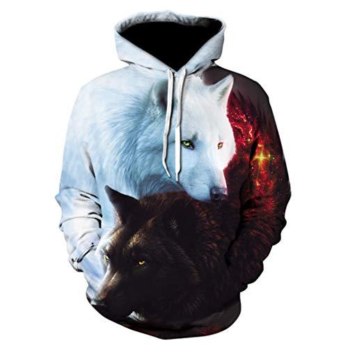 Wolf Print Hoodie Männer 3D Hoodie Marke Sweatshirt Jungen Jacke Qualität Pullover Sportswear Tier Street Jacke 2 6XL