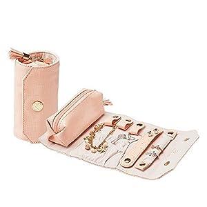Vlando Small Travel Jewelry Rolle Tasche Organizer, Smart Größe & Light Gewicht für Den Täglichen Schmuckstücke