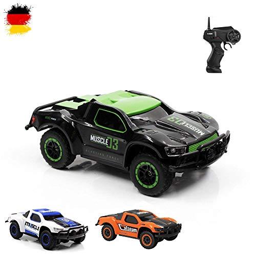 Aandyou Ferngesteuertes Auto, 2,4Hz RC-Auto 4WD Elektronischer Geländewagen,Funkgesteuertes Auto Monster Truck Off-Road-Auto*