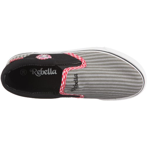 Rebella 160077, Baskets mode fille Gris-TR-FU