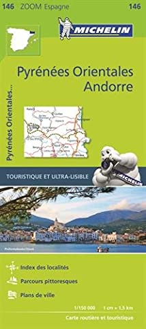 Pyrenees Michelin - Carte Zoom 146 Pyrenees Orientales,