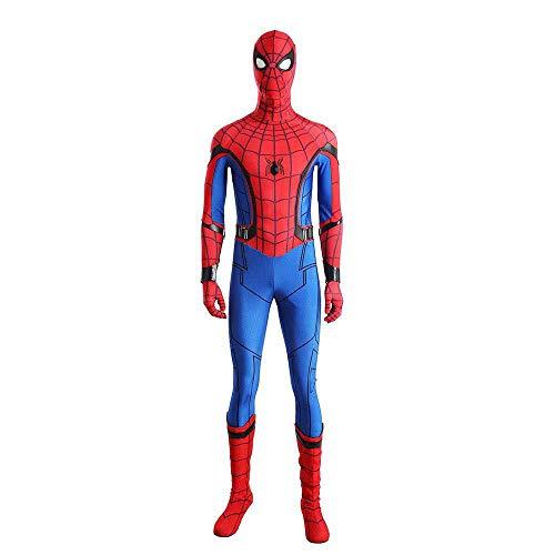 SHANGN Spiderman Rollenspiele Kinder Adult Movie Cosplay Kostüm Far from Home Halloween Spandex Dress Up Bodysuit,Child-L (Halloween Bodysuit Spandex)