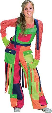 Clown Latzhose Damen Kostüm Zirkus Karneval Spaßvogel