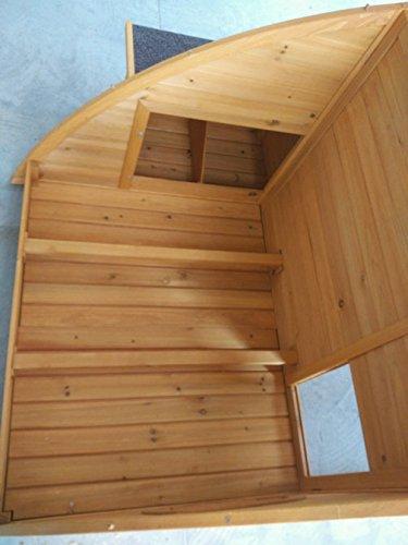 Hühnerstall Hühnerhaus Cocoon Hühnerstall sehr gross für 6 Vögel oder 10 Wachteln, abnehmbares Dach für einfachere Reinigung, mit Lüftungslöchern, mit stabilem Nistkasten, grosser Lebensraum und 210cm Lang inklusive Nistkasten - mehr als 130cm hoch - 4