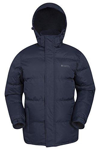 Mountain Warehouse Chaqueta de Nieve para Hombre - Impermeable, con Capucha, puños...