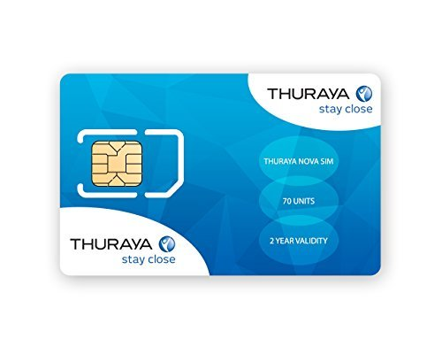 Tarjeta SIM NOVA para el Teléfono via satélite Thuraya con 70 Unidades (77 Minutos)