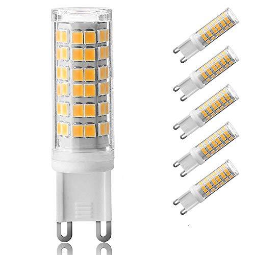 Uniquejason lampadina LED G975W 85W lampada alogena da 100W, 840LM, attacco per bin-pins G9110V 120V 130V ingresso LED lampadine di ricambio, G9-76 Warm White, G9, 6.0W