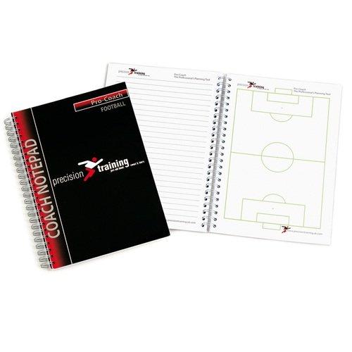 Präzision A5Fußball Pro-Coach Notizblock (Pack von 6) (Trainer Pack Pro)