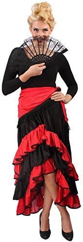 Andrea Moden Spanierin Kostüm - spanische Flamencotänzerin, Größe: (Erwachsene Kostüme Flamenco)