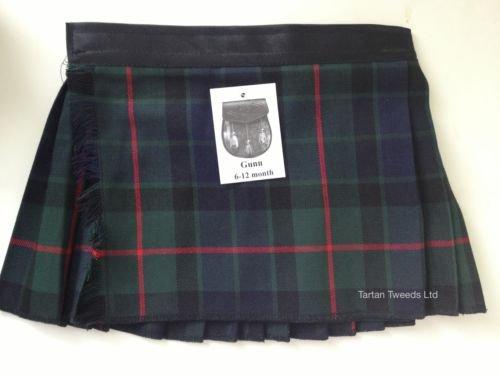 gunn-tartan-ecossais-velcro-reglable-bebe-age-0-24-mois