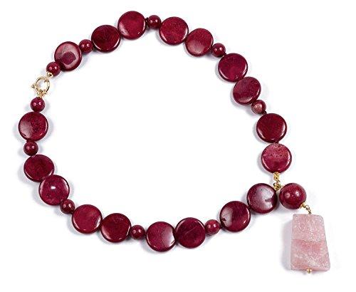 Xenia–Halskette von rohodnite und Rosenquarz roh