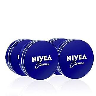NIVEA Creme en pack de 4 (4 x 75 ml), crema hidratante corporal y facial para toda la familia, crema universal para una piel suave e hidratada, crema multiusos