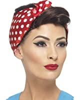 1940's Wartime Fancy Dress Party Rosie Wig Ladies Brown Headwear With Headscarf