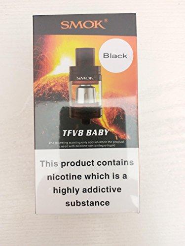 SMOK TFV8 BABY Tank 2mL (Black) E-Cigarette Tank Bonus Vaporcombo Vape Band