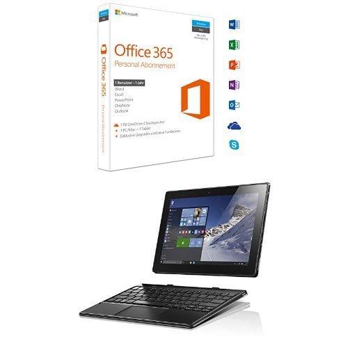 Microsoft Office 365 Personal - 1 PC/MAC - 1 Jahresabonnement + Lenovo Miix 310 25,65 cm (10,1 Zoll HD) Tablet PC