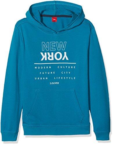 s.Oliver Junior Jungen Sweatshirt 75.899.41.0613, Blau (Petrol 63D1), 140 (Herstellergröße: S)