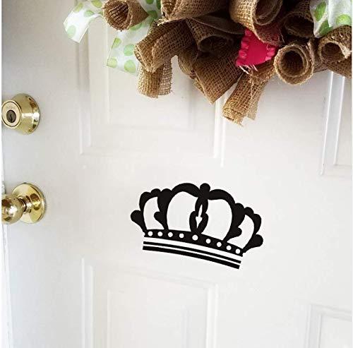 Ldwxn 2 Stücke 25 * 14,4 Cm Royal Crown Wandaufkleber Zimmertür Aufkleber Mädchen Schlafzimmer (Royal Crown Tattoo)