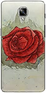 The Racoon Grip printed designer hard back mobile phone case cover for Oneplus 3T. (love Rose)