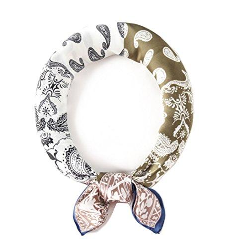Heyjewels Mode Damen Halstuch Kopftuch Bandana Schal Tuecher mit Paisleymuster 70 x 70cm (Mehrfarbig C)