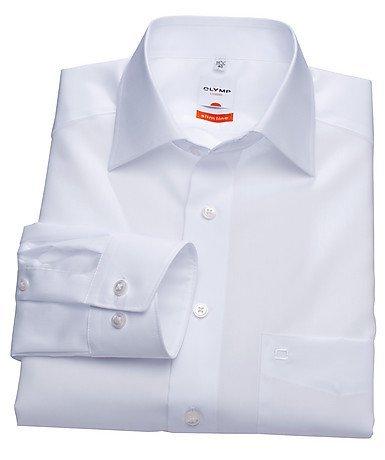 Herren Hemd Modern Fit extralange Aermel weiß Gr. 44
