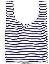 One Size , Sailor Stripe : BAGGU Standard Reusable Shopping Bag - Sailor Stripe