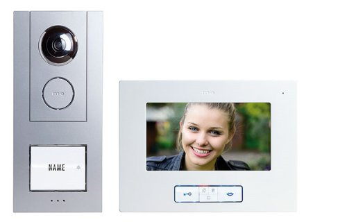 Türsprechanlage Set (Video-Türsprechanlage Kabelgebunden Komplett-Set m-e modern-electronics Vistus VD 6710 1 Familienha)