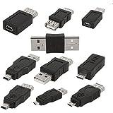 MagiDeal 10pcs OTG 5pin Mini Wechsler Adapter Konverter USB Stecker Auf Buchse Micro USB