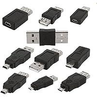 10pcs OTG 5 Pines Mini Adaptador del USB Macho a Micro USB Hembra Convertidor