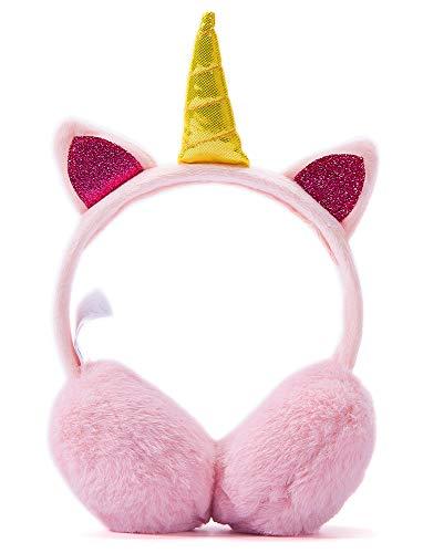 Ohrenschützer Mädchen Ohrenschützer im Plüsch Einhorn Design