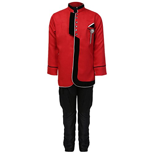 AJ Dezines Kids Party Wear Suit Set for Boys (644_RED_4)