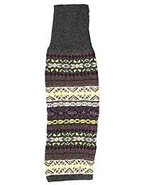 Originaltree Rayas Rodilla Alta Calcetines para Mujer de Punto Calentadores de la Pierna Calcetines de Hombre para Invierno Footless Mixto A